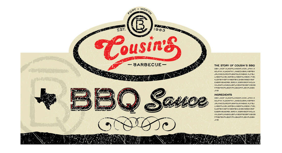 Cousins BBQ Label
