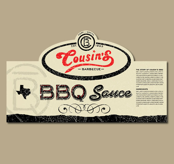 Cousins Bbq Label By Rob Jones